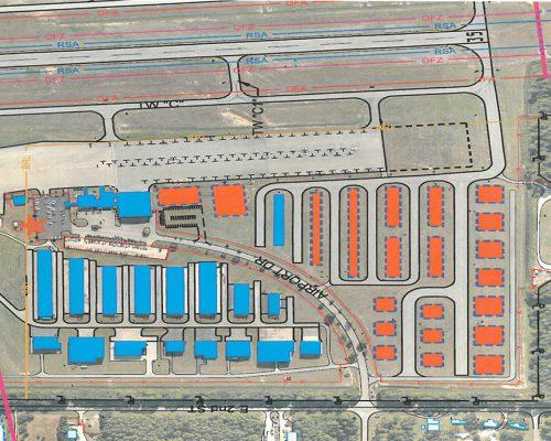 SW hangar area
